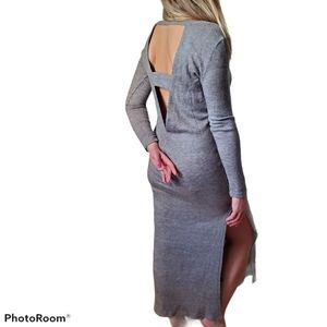 ESSUE Cut Out Back Long Sweater Dress